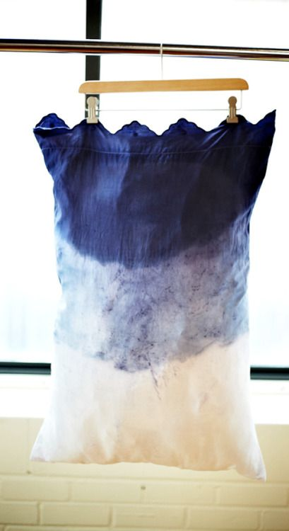 DIY Dip dye pillow case! #toocute