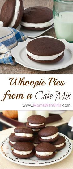 Whoopie Pies from a Cake Mix