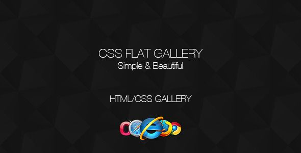 CSS Flat Gallery