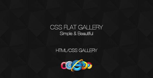 CSS Flat Gallery