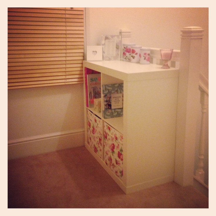 love the rosali boxes from ikea.. good idea for babys room if its a girl!