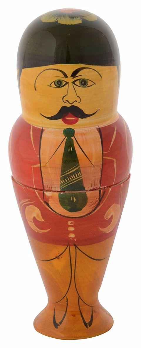 Utsav Kraft Wooden Etikoppaka Indian Men Figurine