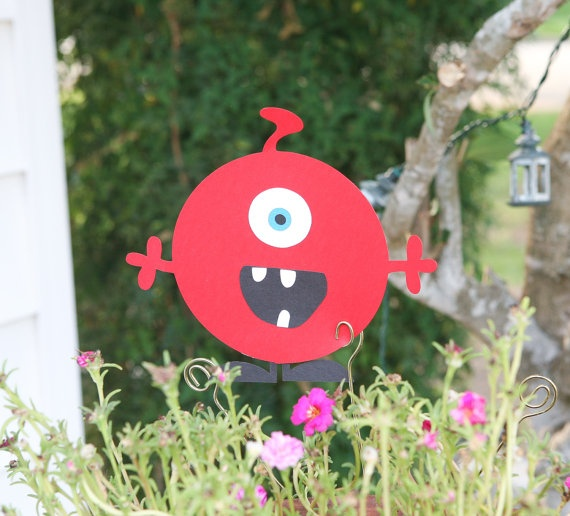 Monster Cutouts for Centerpieces Banners by LesliHillDesigns, $8.00