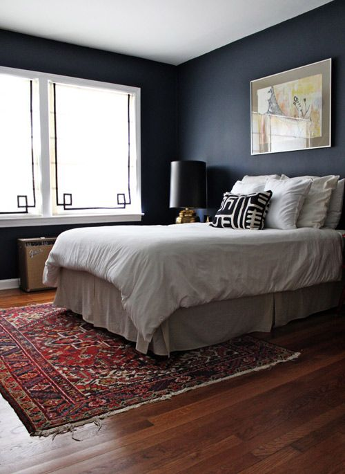 Bedrooms are usually bright and peaceful. However, they don't always have to be this way. A dark bedroom can be equally attractive if decorated with appeal. Also, check out what a little trim did to traditional window shades!