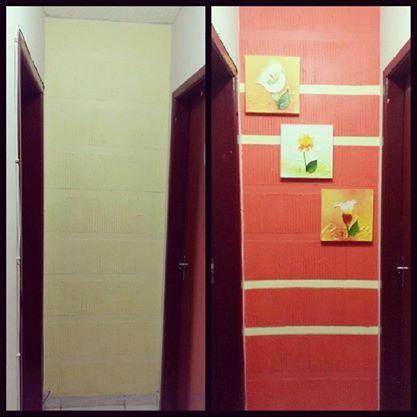 #designinteriores#corredor#house#coral#pintadapormim#minell#umdiachegolá
