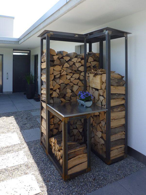 Brennholz lagern ideen wohnzimmer garten  Die besten 25+ Lagerung im freien Ideen auf Pinterest | Hinterhof ...