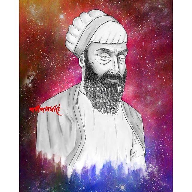 'Remember and meditate upon Guru Tegh Bahadur; and then nine sources of wealth will come hastening to your home.' Sri Guru Tegh Bahadur Ji in 'The Ninth Master' --beautiful artwork by @mesmeraki