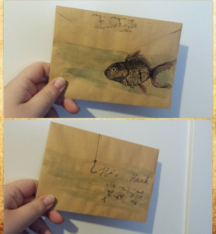 Fish envelope for mister Hook. By Inow Blog: http://ineffable-inow.blogspot.be
