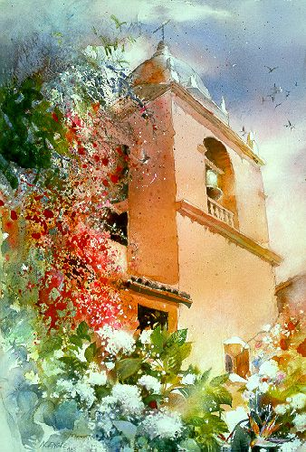 Bell Song by watercolor artist Nita Engle