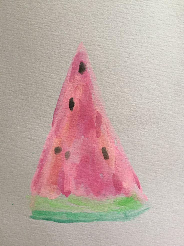 Watercolour watermelon slice by K826 on Etsy