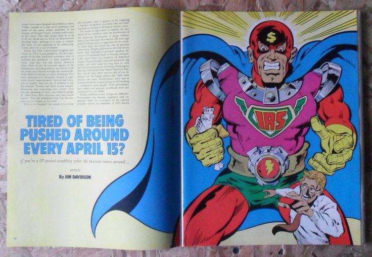 1976 Magazine Article 'Tired of The IRS' by Jim Davidson w Ron Villani Art | eBay