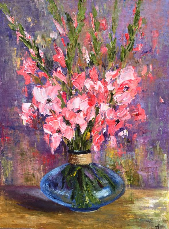 """Bouquet of Gladioli"" by Alena Rumak"