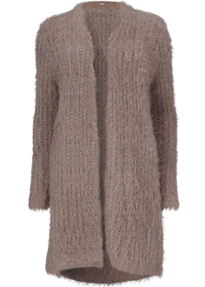 Gustav Cardigan gråbrun 20403 Fur Mohair Cardigan - 9245 wood smoke – Acorns