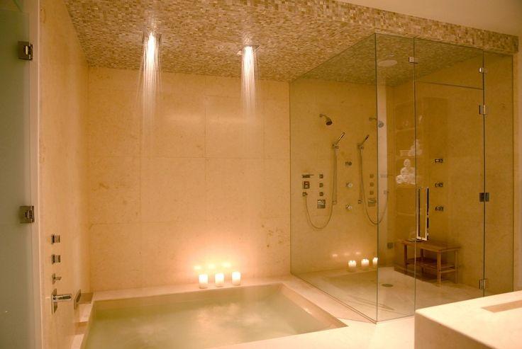 Rain Shower Bath Steam Shower Combo Bathroom
