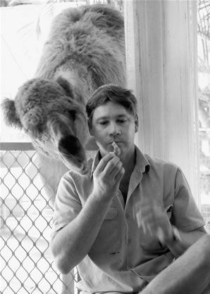 Steve Irwin- Certainly one of my heroes. Besides teaching us about animals, he demonstrated how to live life to its fullest, while doing what you love. Beautiful photo, beautiful lessons.