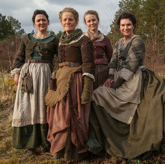 these lassies have got style outlanderseries starz behindthescenes bts scotland fashion