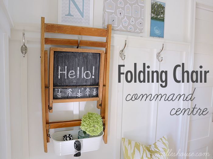 Nalle's House: FOLDING CHAIR MAKEOVER for the sunroom!