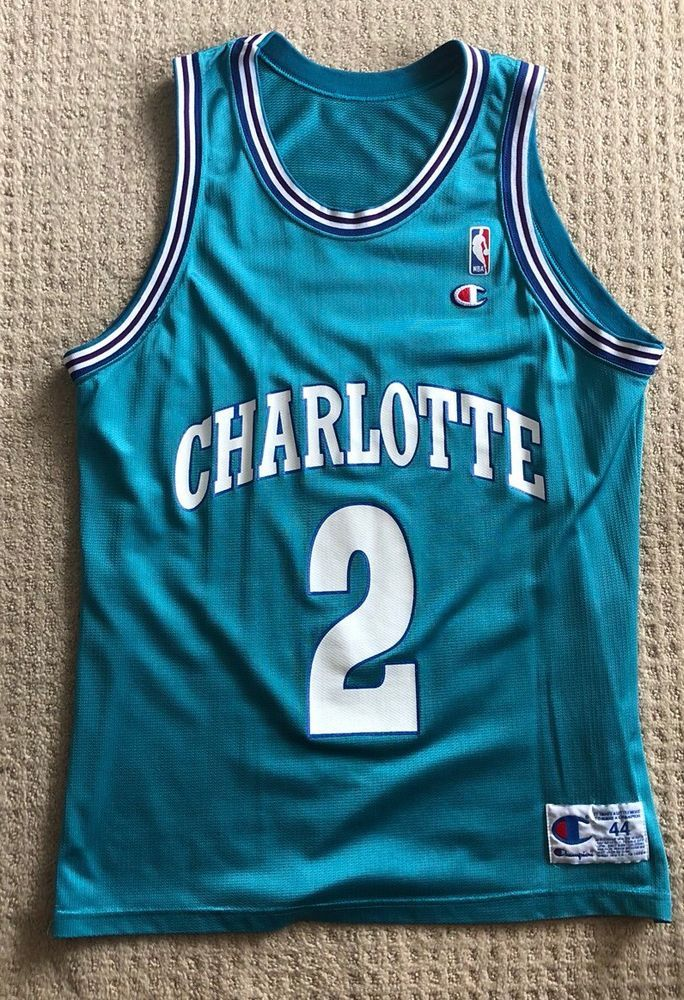 368d85631db ... coupon for vintage charlotte hornets champion jersey rare misprint size  44 nba jersey please retweet 5b630