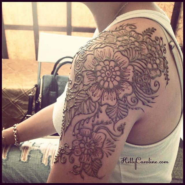 floral shoulder tattoo - Google Search