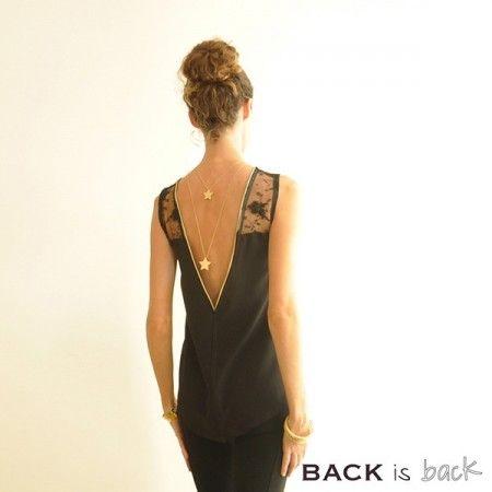 Pattern tunic woman decollete back