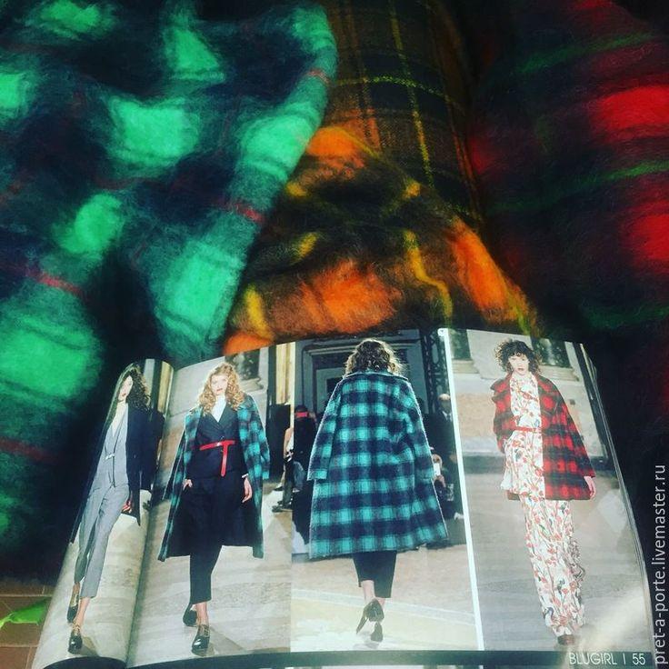 Купить BLUMARINE шерсть/мохер пальтовая , Италия - разноцветный, итальянские ткани, материалы для рукоделия, товары для творчества
