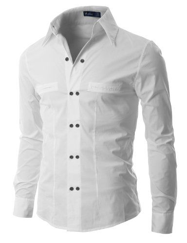 Doublju Mens Dress Shirts with Unique Double Button WHITE (US-XS) Doublju,http://www.amazon.com/dp/B009VZ62GQ/ref=cm_sw_r_pi_dp_H06xtb12F1AAKB7P