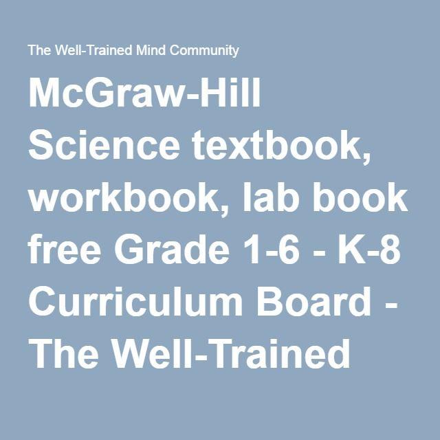 McGraw-Hill Science textbook, workbook, lab book free Grade 1-6 ...