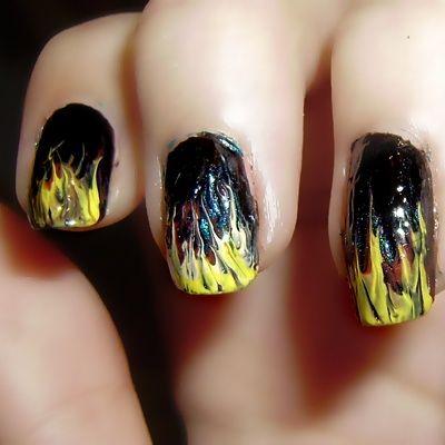 Nail Art Fuego