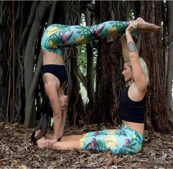 Stunning new #secretyogi collection available online now inclusive g the gorgeous Banana Blossom print available in shorts, capri's and full length tights. Non see through guarantee! Available at www.beactivewear.com.au