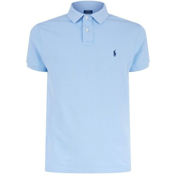 Polo Ralph Lauren Custom Fit Cotton Polo Shirt ($97) ❤ liked on Polyvore featuring men's fashion, men's clothing, men's shirts, men's polos, mens embroidered shirts, mens cotton shirts, men's cotton polo shirts, polo ralph lauren mens shirts and mens polo shirts