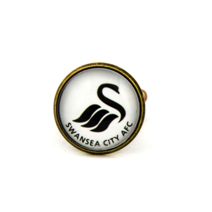 Swansea City A.F.C. Logo cufflinks. Swansea City Association Football Club. English football. Personalised  Men's jewelry accessories gift. by Mysstic on Etsy