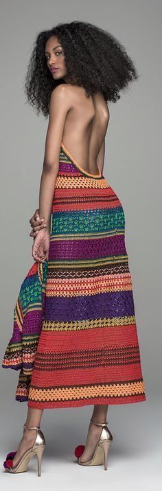 crochet maxi backless dress @roressclothes closet ideas #women fashion outfit #clothing style apparel