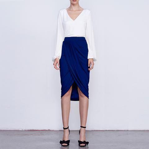 Falda Sadie Azul Cobalto FW16