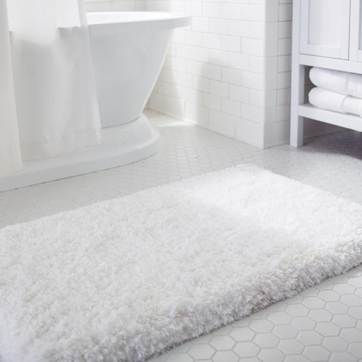 Cloud Step Memory Foam White 21x34 Bath Rug