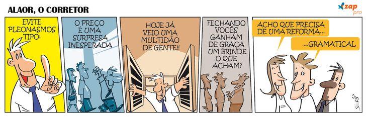 Corretor de imóveis com o português na ponta da língua