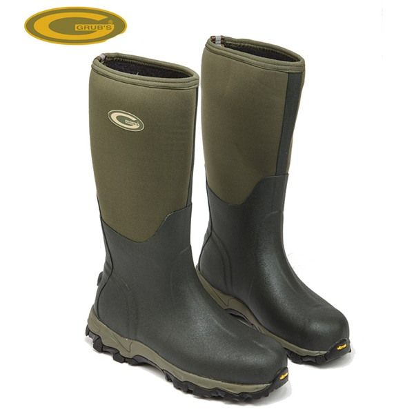 Grubs Stalking 5.0 Wellington Boots in Moss Green have self-insulating micro cellular construction material.