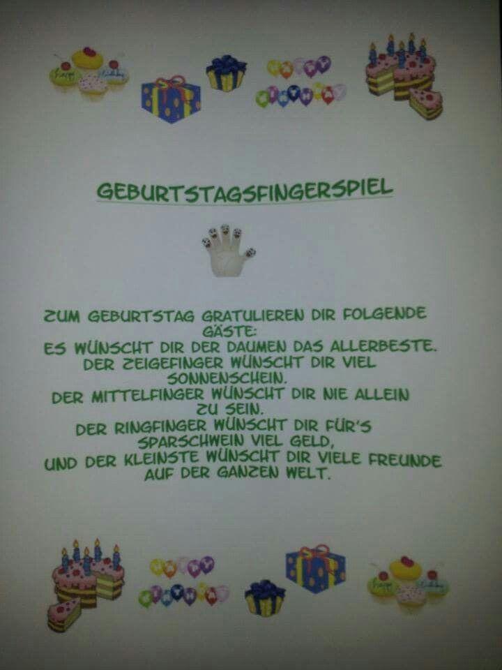 Fingerspiel zum Geburtstag                                                      …