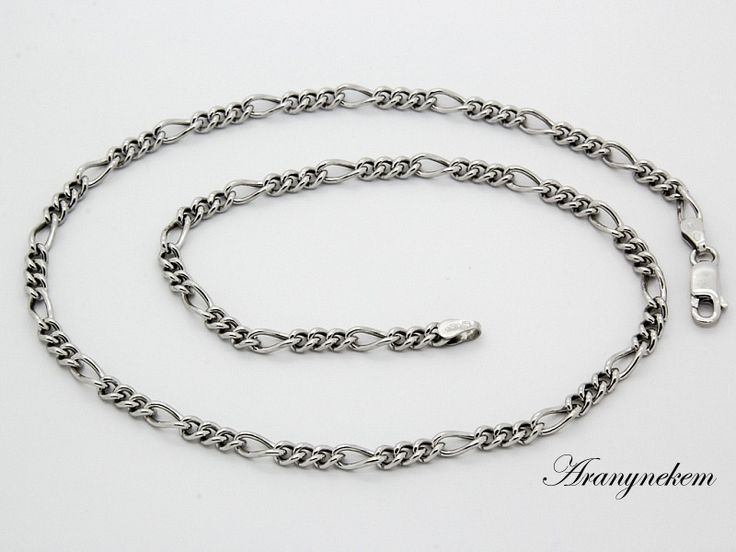 Ródiumos ezüst figaro nyaklánc