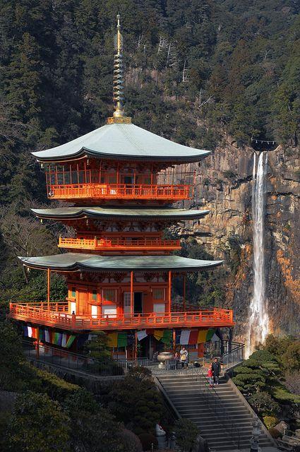 the World Heritage, Kumano Nachi Taisha shrine, Wakayama, Japan