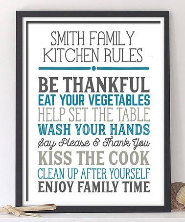 This 'Kitchen Rules' Personalized Print is perfect! #zulilyfinds