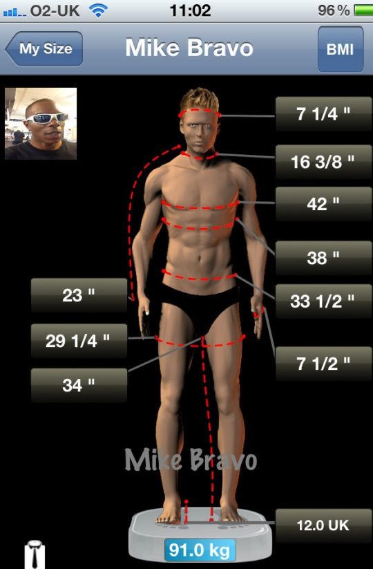 My Size App is for you. But don't just measure yourself once – update your measurements regularly and track your changes over time with the built-in Chart. All you need is a Tape Measure! See More at:-https://itunes.apple.com/gb/app/my-size-bmi-weight-body-measurement/id502299073?mt=8