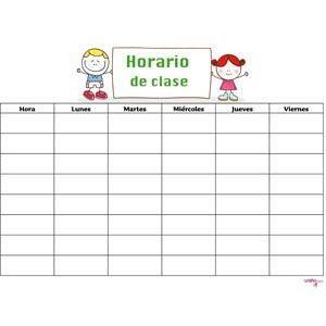 Horarios de Clases para Escuela Primaria - Formatos para Imprimir | Planeaciones Gratis