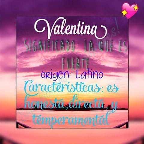 Resultado de imagen para significado del nombre valentina
