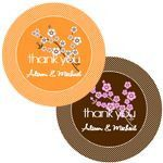Cherry Blossom Round Labels (set of 12)