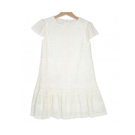 www.pepaonline.com  Lo que buscas para un día especial es este vestido de encaje marfil de la Marca Sprint en Outlet de Ceremonia. Ya está online el mejor outlet infantil