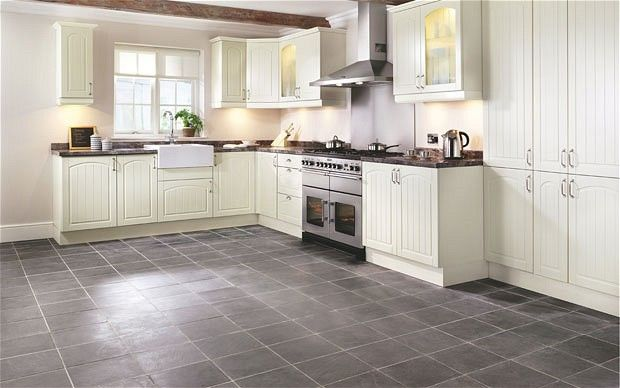 Kitchen Floor Tile | Wickes flooring: the Windsor kitchen with noce, yellow and white ...