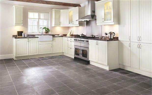 Grey Kitchen Floor White Cabinets white kitchen cabinets grey floor | winda 7 furniture