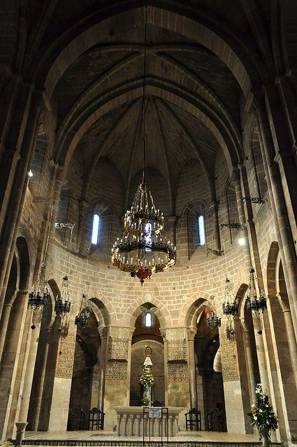 Choeur, église abbatiale, monastère royal de Santa María de Veruela, Vera de Moncayo, province de Saragosse, Aragon, Espagne.
