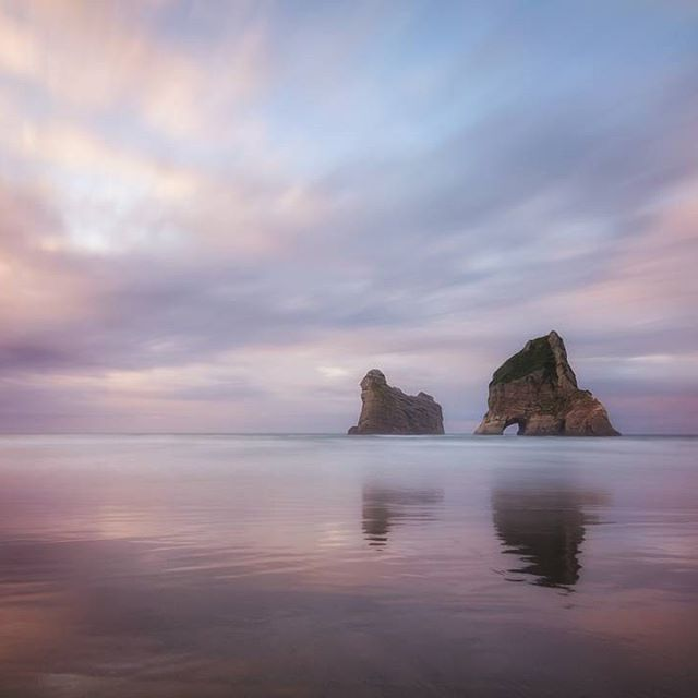 #wharariki #whararikibeach #newzealand #beach #sunset #capturelandscapes