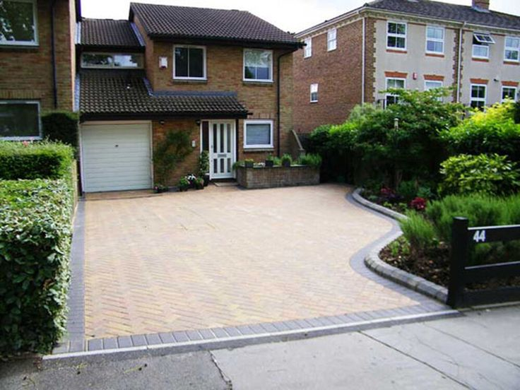 10 best images about driveway ideas on pinterest for Sloped driveway options